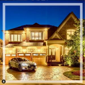 Instagram Home Exterior Twilight Tesla